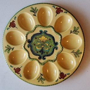 Talavera Egg Serving Dish NWOT